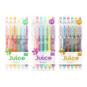 LifeMaster Pilot Juice Gel Pen 0.5 mm 6 Color Set Metallic/Pastel/Basic Color Cute Japanese Stationery Student Pen  LJU-60EF