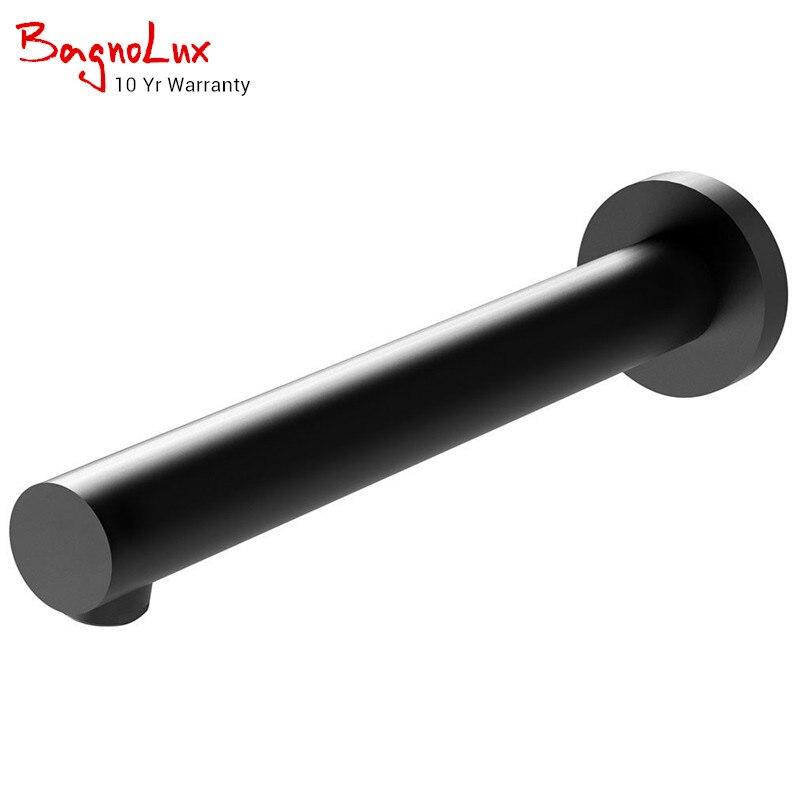 10 Yr gwarancji wysokiej jakości ściany wanna Outlet 200mm czarny matowy dotknij łazienka Tapware wanna srebrny bateria natryskowa kran wypełniacz wylewka