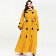 2019 Women Abaya Muslim Long Dress Islamic Arabic Long Sleeve Dress Ties Waisted Pakistani Dubai Dresses vestidos 2 colors M-4XL