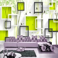 large 3d mural wallpaper modern tv background wall abstract tree flower bird bedroom sofa background wall covering non woven