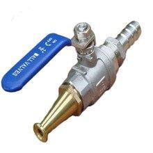 Boule dacier inoxydable 304 haute pression   Lavage de voiture, interrupteur de vanne darrosage pistolet à eau en laiton, arroseur dincendie domestique