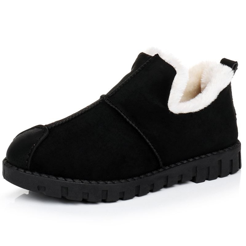 Snow Suede Ankle Boots Women Flats Winter Warm Winter Short Boots New Fashion Suede Boots Snow Women Shoes Fur Plush Suede Shoes women winter boots new winter women snow boots australia boots casual fur warm boots women shoes 2018 fashion flats boots shoes