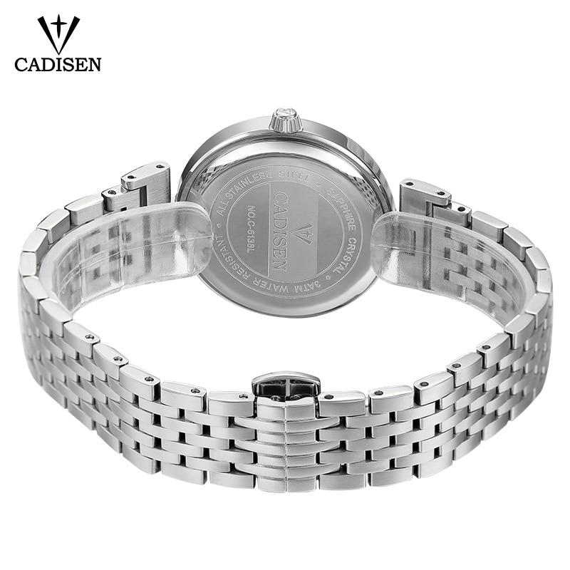 CADISEN Luxury Brand Fashion Quartz Watch Women Wristwatch Ladies Stainless Steel Bracelet Casual Clock Female Dress Watches enlarge