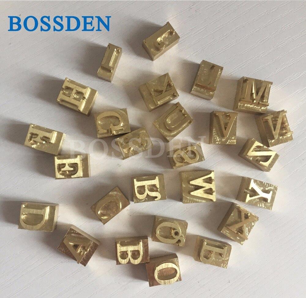 BOSSDEN, letra del alfabeto de cobre personalizada, molde troquelado para soldador, máquina de estampación en caliente, herramienta de impresión a presión