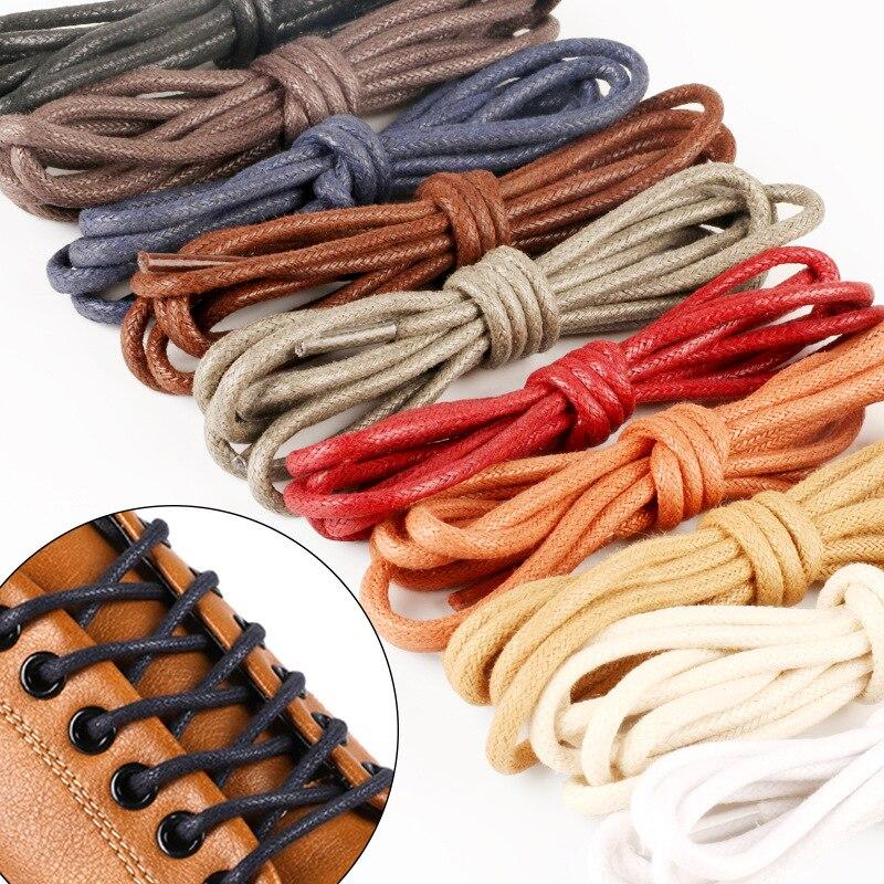 1 пара 80 см 120 разноцветный хлопковый вощеный Круглый шнурок платье шнурки для