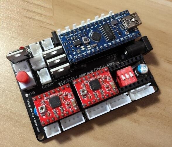 Sistema GRBL para la regulación de la potencia del motor paso a paso micro de 2 ejes y el software de la placa base de control de grabado láser DIY mac