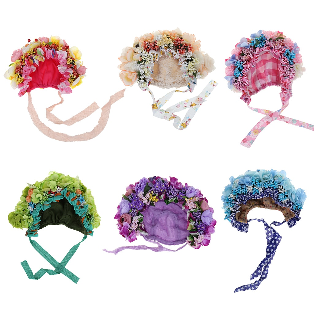 Atrezos para fotografía de bebés recién nacidos sombrero flores coloridas Bonnet accesorios para fotografía estudio sesión de fotos Accesorios