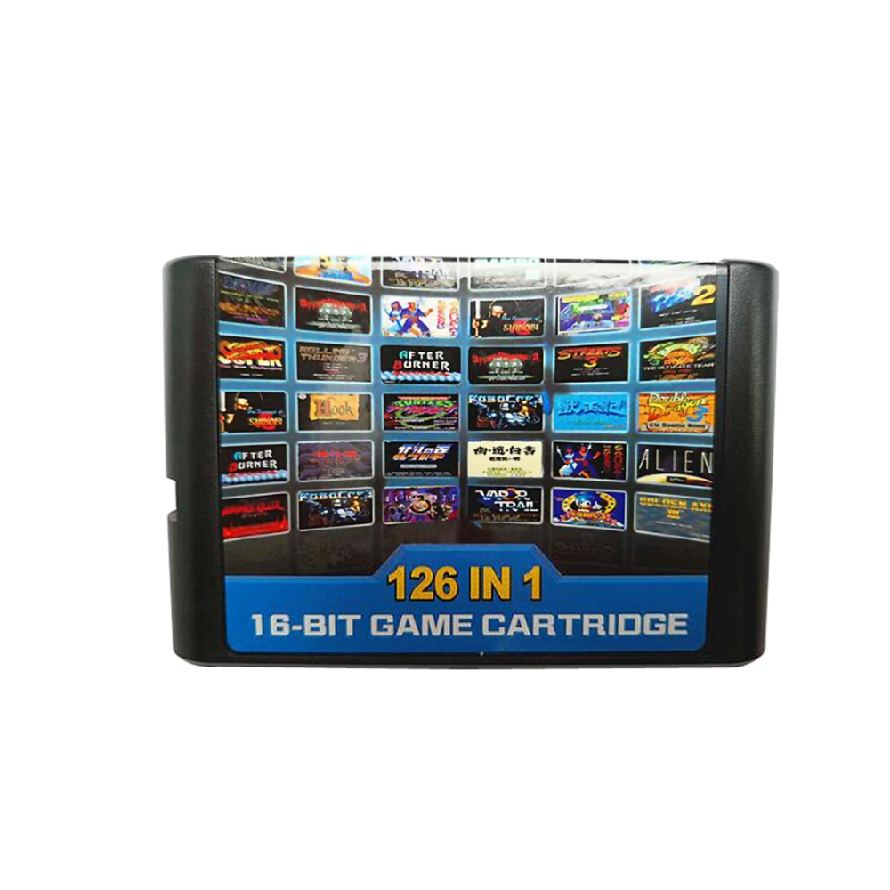 126 в 1 мультиигровые карты картридж для Sega Mega Drive MD для PAL и NTSC Прямая поставка 16-битная игровая Карта
