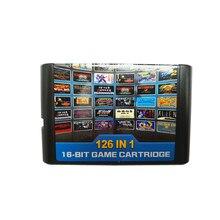126 en 1 multi jeux cartes cartouche pour Sega Mega Drive MD pour PAL et NTSC livraison directe 16 bits carte de jeu