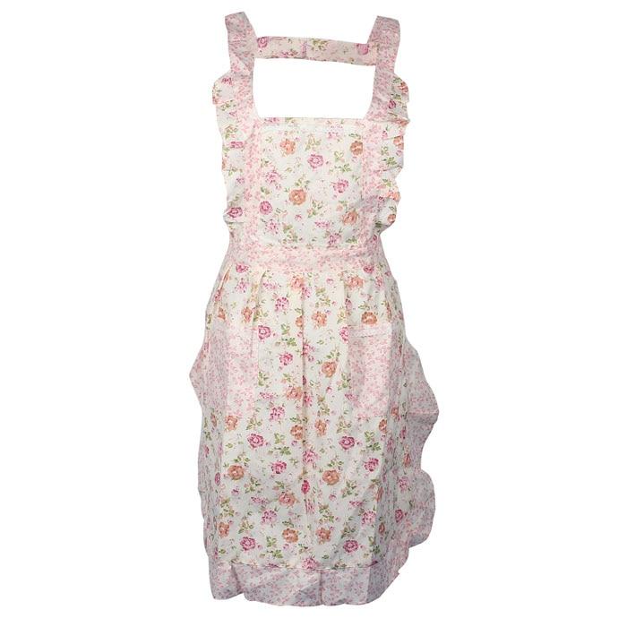 Dulce mujer señora estampado flor restaurante casa cocina para bolsillo cocina delantal de algodón babero F8143 3