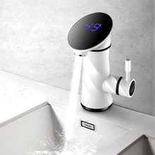 3500W 220V Electric Instant Water Heater Tap Instantaneous Hot Home Kitchen Bathroom Temperature Dis