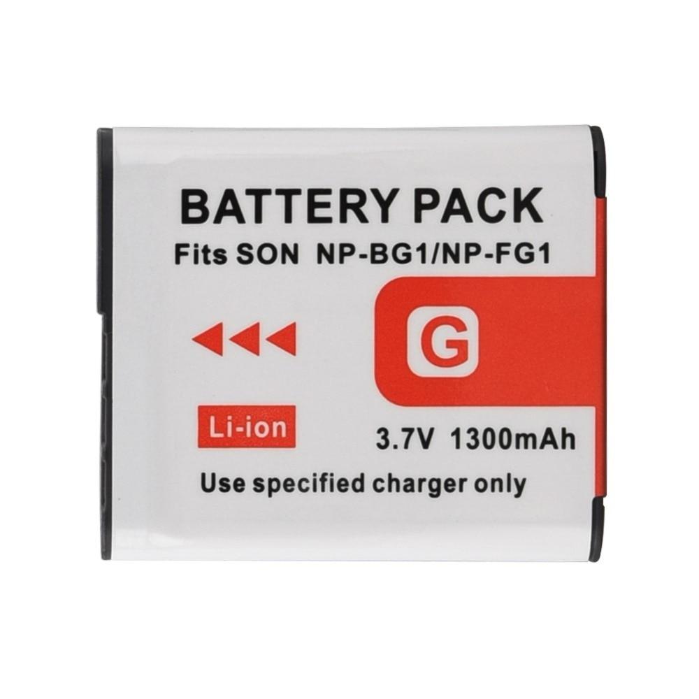 1pc 1300mAh NP-BG1 BG1 NPBG1 NP Bateria Da Câmera para Sony DSC-H3 DSC-H7 DSC-H9 DSC-H10 DSC-H20 DSC-H50 DSC-H55 DSC-H70 Bateria