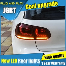 Clignotant dynamique 2009-2013 MK6   Style de voiture pour Golf 6 feux arrière, DRL + frein + parc + feux de brouillard, 4 pièces