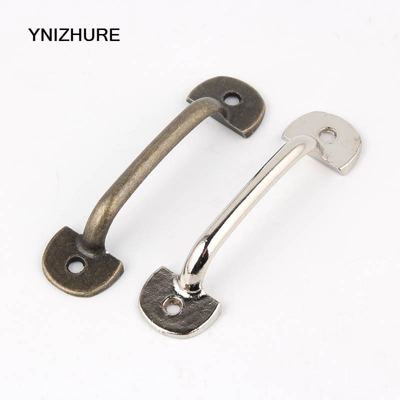 50 pces 60*12mm tiradores muebles liga de zinco prata mini puxar a gaveta do metal puxa os botões e o armário antigos do punho da mobília