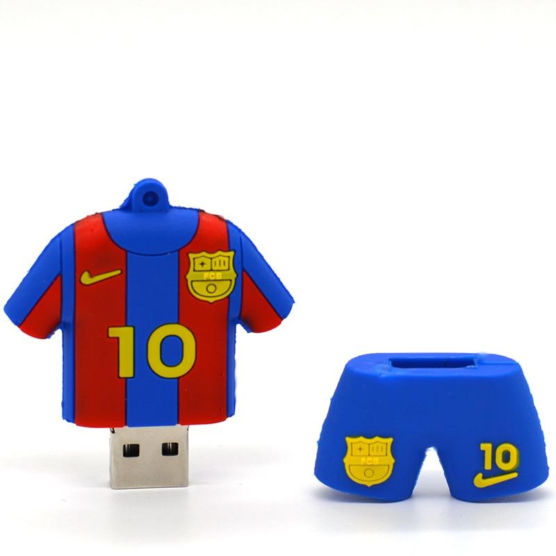 DUBY Pen drive 1 GB 2GB 4 gb 8GB 16 GB 32GB 64GB gb messi fútbol usb 2,0 memoria usb pendrive flashdrive regalo mini de regalo