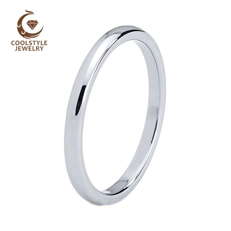 3 ミリメートルタングステン結婚指輪女性ウェディングバンド婚約指輪ドームバンドコンフォートフィット