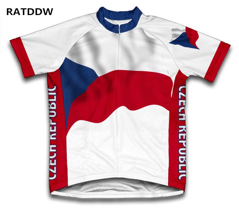 Czech Republic  Pro Team Cycling Jersey For Men and Women Bike Bicycle clothes Short Sleeve Cycling shirt