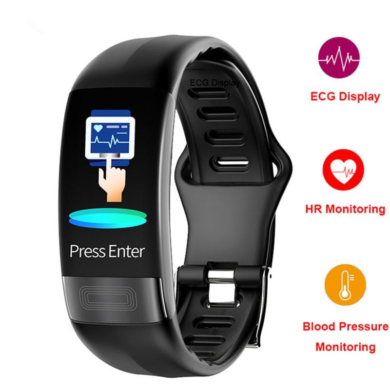 P11 EKG + HRV smart band blutdruck monitor smart fitness armband Activit tracker Sport smart watch schlaf Überwachung