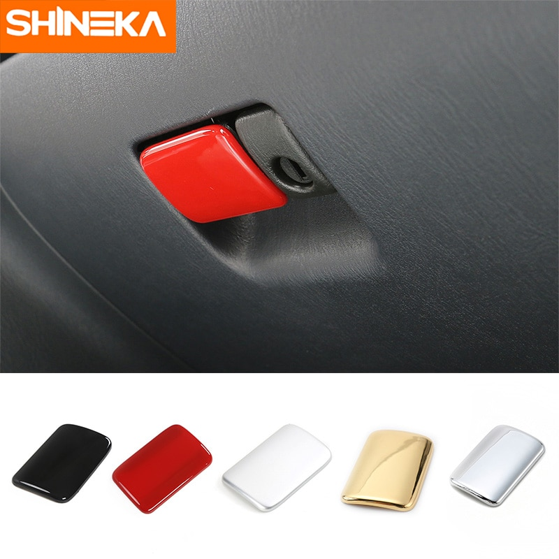 SHINEKA ABS Car Interior Storage Glove Box Handle Decoration Cover Trim Stickers For Suzuki Jimny 2007-2016 Car Styling