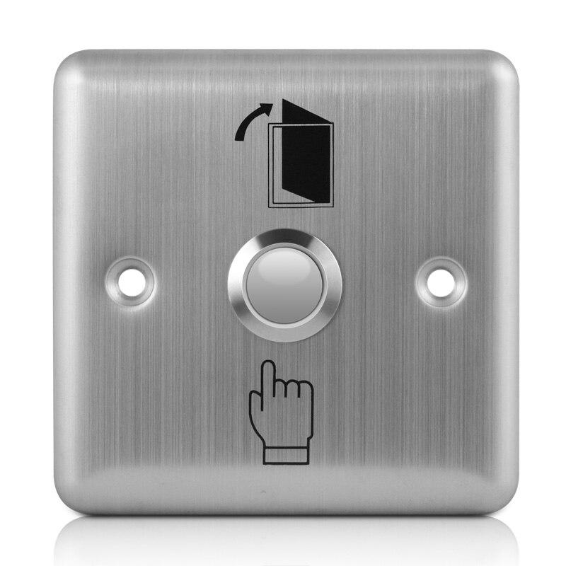 Interrupteur de sortie en acier inoxydable, bouton de sortie, bouton poussoir pour ouverture de capteur de porte, libération pour contrôle daccès, argent