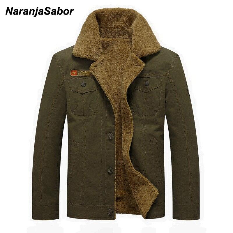 Chaquetón de invierno de NaranjaSabor, chaqueta gruesa de 2020 para hombre, abrigo informal militar para hombre, ropa de marca para hombre de talla grande 6XL N613