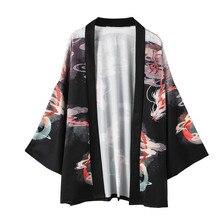 Sommer Tops kimono strickjacke frauen männer Retro Robe Lose Nationalen Print Bluse d90711