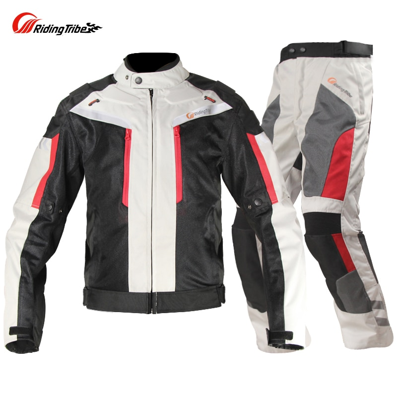 Riding Tribe Windproof Motorcycle Racing Suit Protective Gear Armor Motorcycle Jacket+Motorcycle Pants Hip Protector Moto Set four seasons riding tribe motorcycle pants with knee hip pad moto motocross trousers body armor m l xl 2xl 3xl 4xl