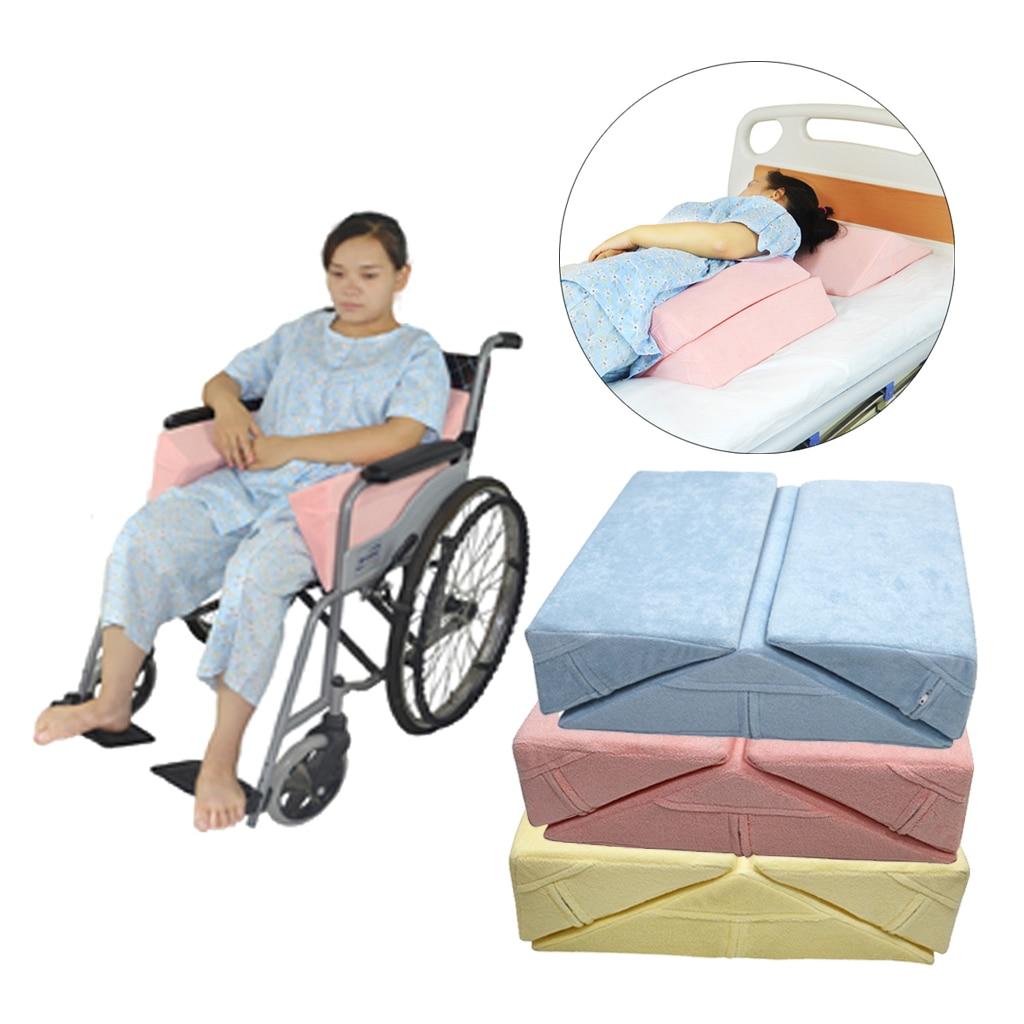 وسادة إسفين مضادة لقرحة الفراش ، لكبار السن ، وسادة دعم للساق والظهر والركبتين والخصر ، كرسي متحرك ، 3 وحدات