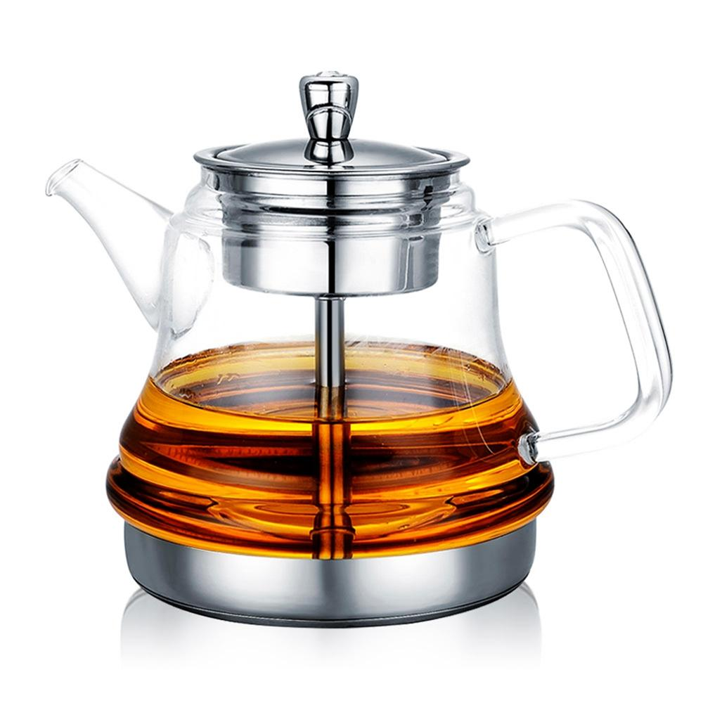 Cocina de Inducción especial olla hervir té olla de uso específico de bote de vidrio de acero inoxidable tetera con revestimiento de vapor de té