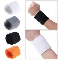 cotton unisex sport sweatband wristband basketball running badminton wrist brace