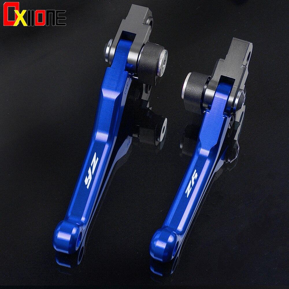 For YAMAHA YZ125 YZ250 YZ250F YZ426F YZ450F YZ250X YZ 125 250 250F 426F 450F 250X CNC Pivot Brake Clutch Levers Dirt Bike Blue