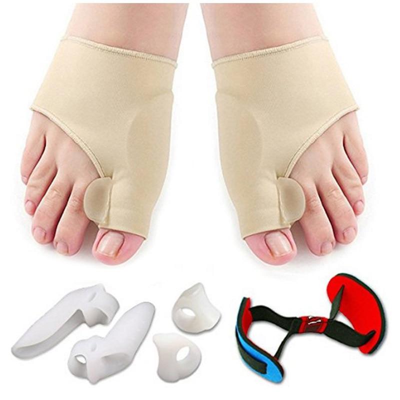7 pièces orthopédique Bunion Correction pédicure chaussettes Silicone Hallux Valgus correcteur accolades orteils séparateur pieds soin outil