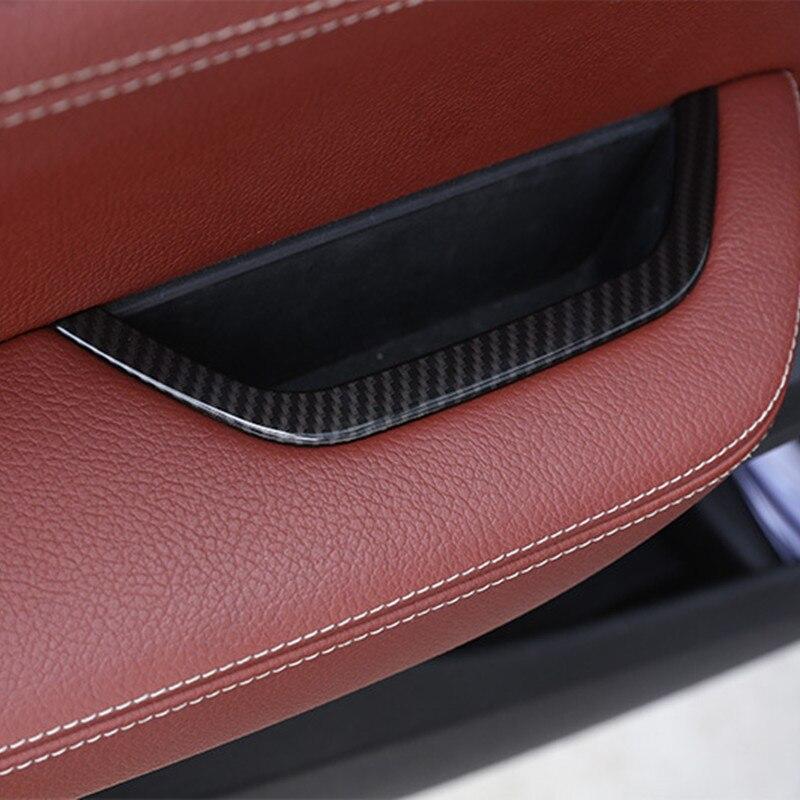 Unidad Principal del coche caja de almacenamiento de apoyabrazos de puerta cubierta Trim Color de fibra de carbono pegatina para BMW X3 F25 2011-17 LHD Auto calcomanías interiores