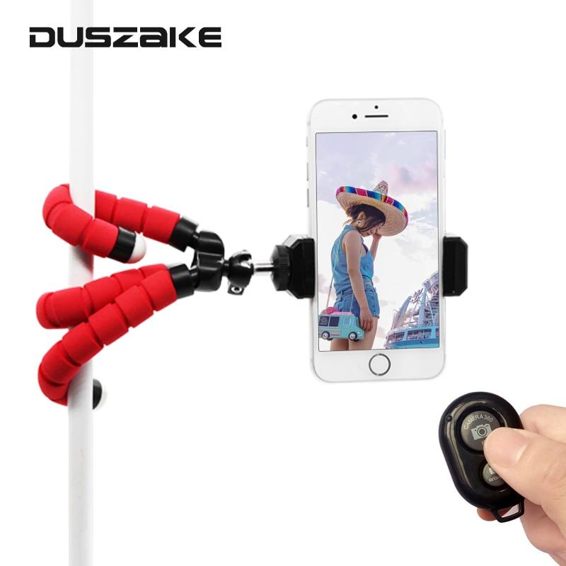 DUSZAKE P17 Gorillagpod Flexível Desktop Telefone Mini Tripé para Celular Câmera Tripé Para iPhone Xiaomi Telefone Telefone Mini Tripés