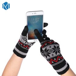 Miya mona feminino tela quente inverno luvas sentido unisex do sexo feminino grosso de malha luvas de dedo cheio luvas luvas luvas handschoenen
