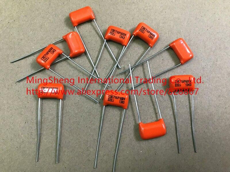 Original novo 100% de importação Dos Estados Unidos 715 p 716 p series 0.0022UF600V 222J 2% capacitores de filme de alta precisão para a febre (indutor)