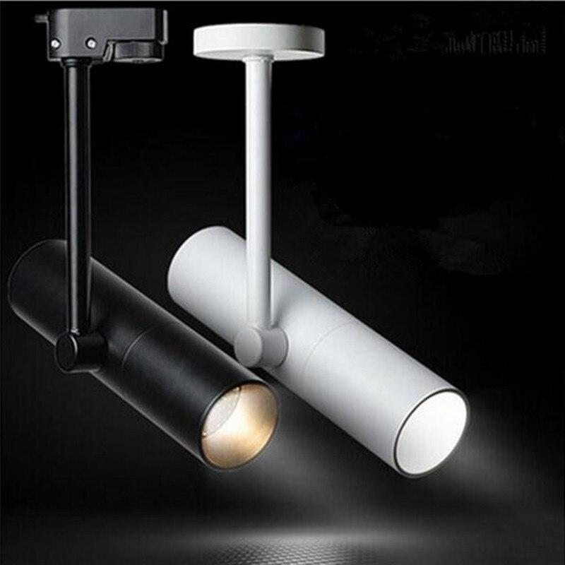 18 قطعة 12W 15W قابل للتعديل بقيادة الاضواء داخلي المسار الإضاءة عكس الضوء AC110V 220V LED مصابيح السكك الحديدية للملابس أحذية مخزن متحف