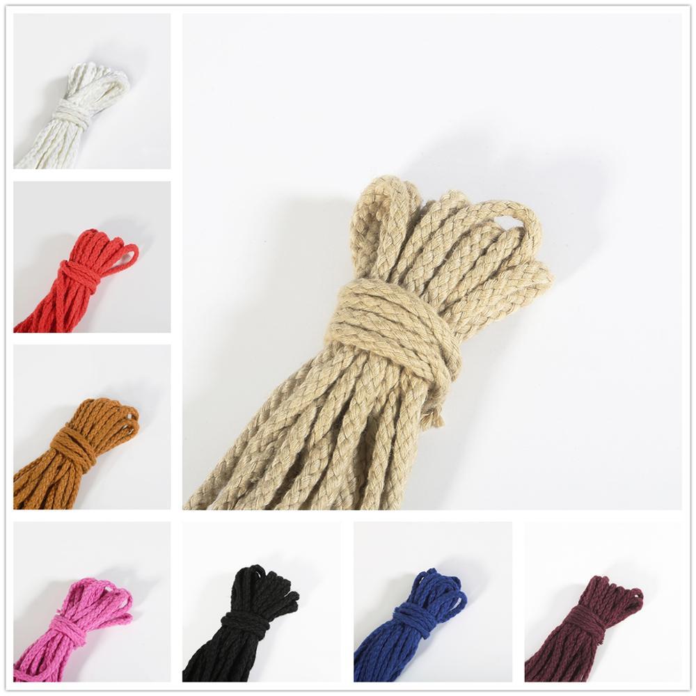 5 ярдов 6 мм хлопковое плетение из веревок декоративный витой шнур веревка для украшения ручной работы шнурок для рукоделия моток веревки