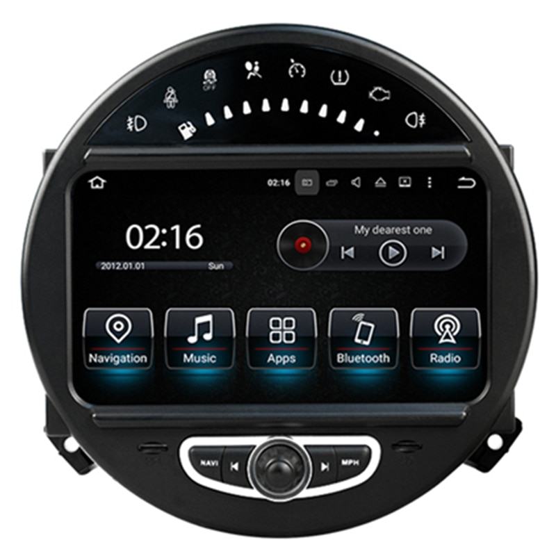 "7 ""android autoradio unidade principal estéreo do carro unidade de cabeça multimídia gps para mini cooper 2006 2007 2008 2009 2010 2011 2012 2013"