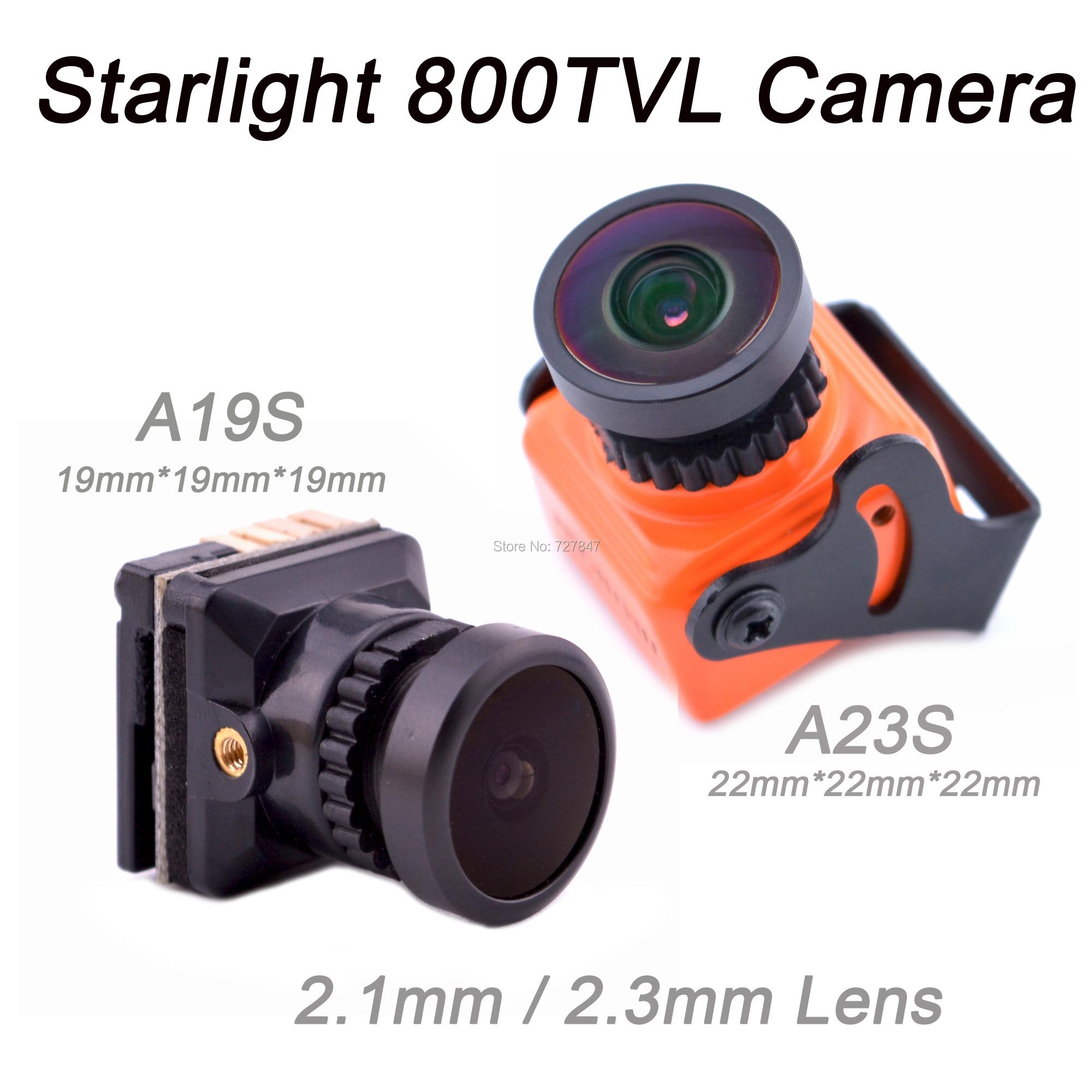 NEW Starlight 800TVL 1/1.8'' Level sensor OSD FPV camera NTSC/PAL Switchable 2.1mm / 2.3mm Lens FPV Camera for FPV Racing Drone