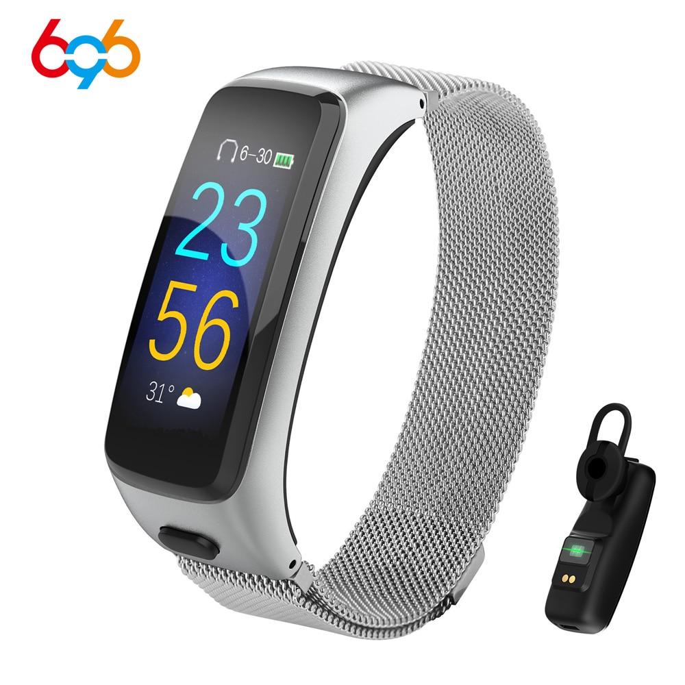 BY51 2 في 1 passmeter معدل ضربات القلب مراقبة ضغط الدم كومبو سوار ذكي سماعة بلوتوث سماعة جهاز تعقب للياقة البدنية ساعة