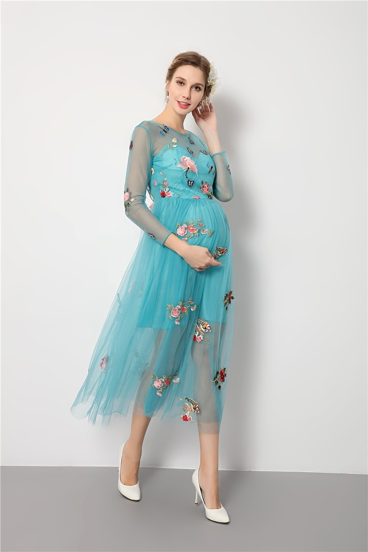 Pregnancy Dress Photography Woman Maternity Gowns for Photo Shoot Baby Shower Formal Pregnancy Clothes Party Evening Dress enlarge
