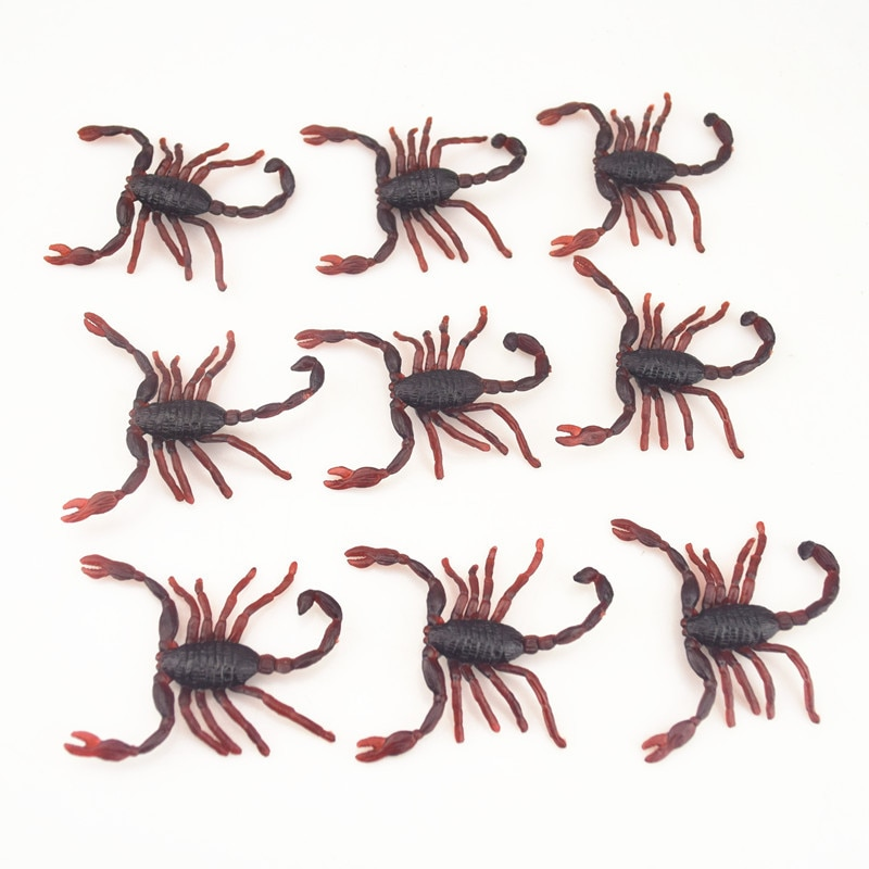 20 шт./лот поддельные тараканы розыгрыши Новинка сантиметр Скорпион Хэллоуин реквизит кляп шутка новинка игрушки для детей