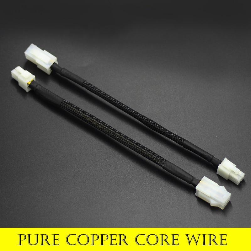 """1 Uds 20cm 8 """"pulgadas ATX 12V 4 Pin macho a 4Pin hembra PC P4 CPU de extensión de fuente de alimentación conector con Cable adaptador"""