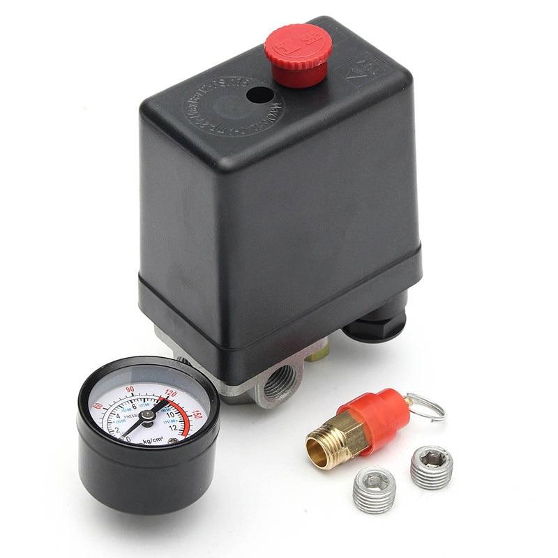 Pompe de compresseur dair pression 0-175 PSI   Vanne de commande de interrupteur 12 Bar 240V 4 ports offre spéciale