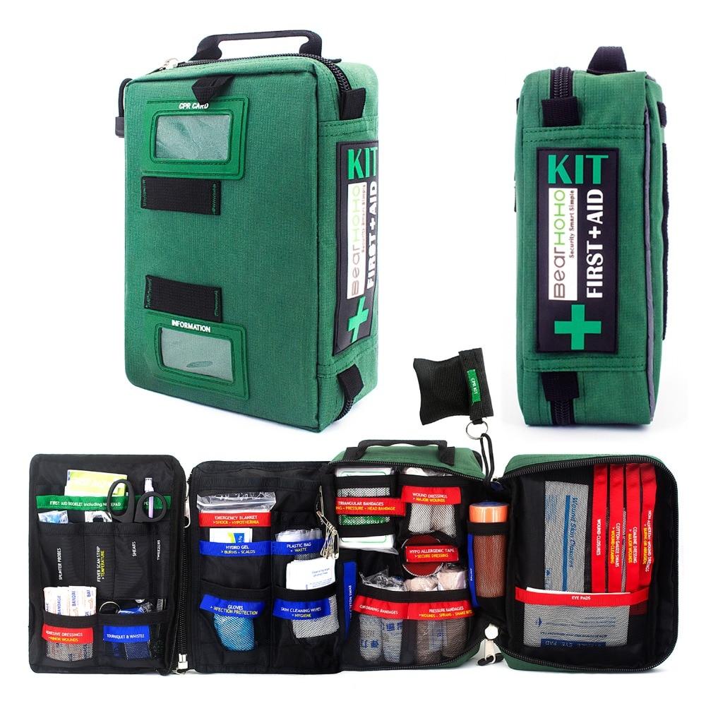 255 шт. удобный аптечка сумка легкие аварийные медицинские спасательные сумки для дома на открытом воздухе автомобиля Путешествия Школы Пеш...