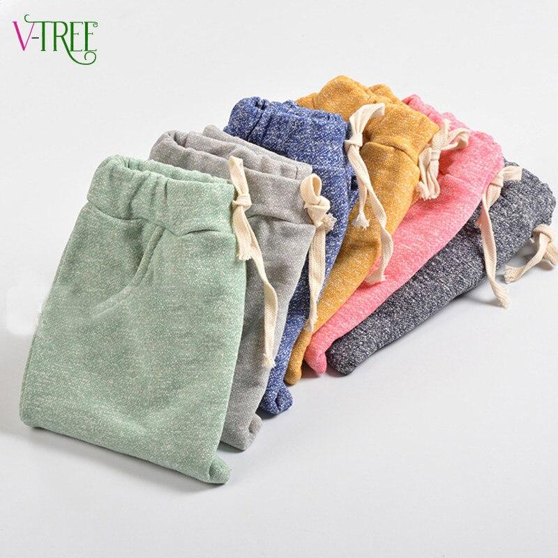 Pantalones harem de algodón de alta calidad para niños y niñas, pantalones para niños y niñas, ropa para niños, pantalones para correr informales de 2 a 7 años