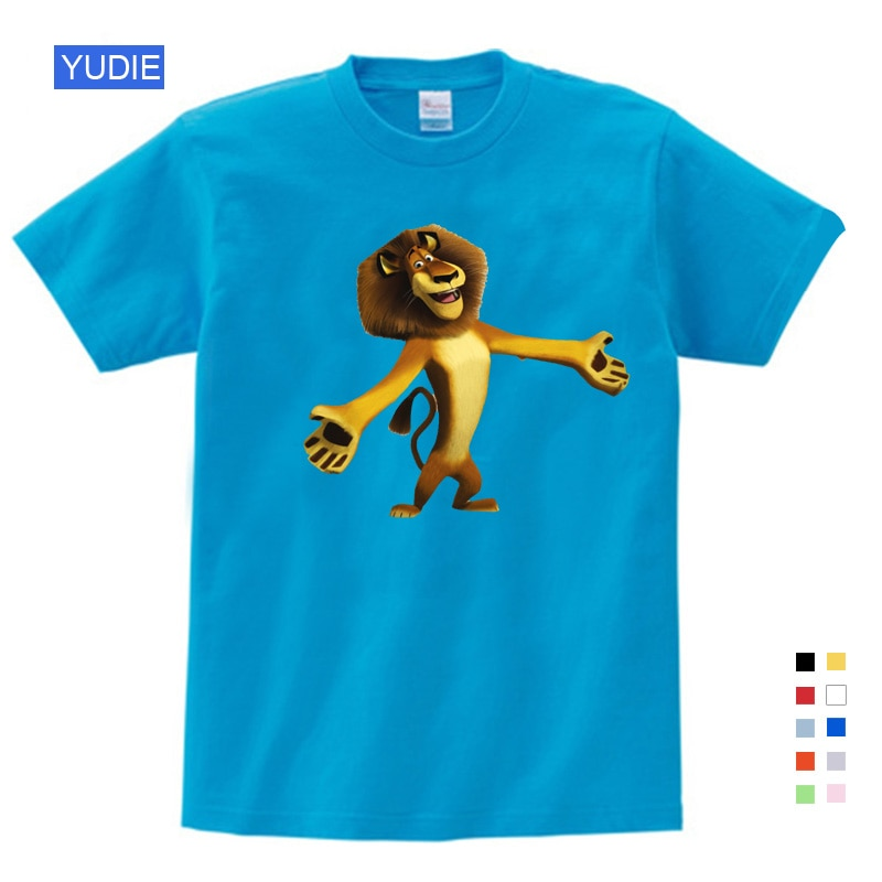 kids shirt for boys t shirts Summer New T Shirt Cartoon Lion Cute Tops T Shirt Summer Children Birthday Gift Kids Clothes 3T-9T
