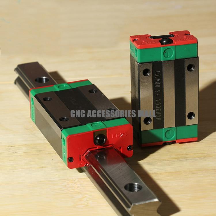 الأصلي HIWIN الحركة الخطية السكك الحديدية HGR20 -L1500mm مع 2 قطعة HGH20CA الخطي عربات