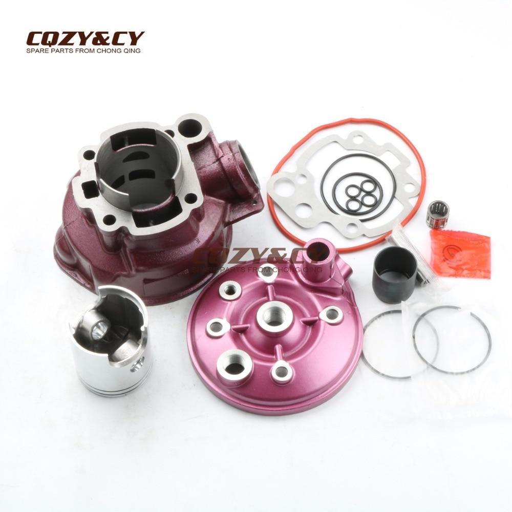 49 мм/12 мм 90cc набор цилиндров и поршневой комплект, прокладка цилиндра и головка цилиндра для minarelli BETA RK6 RR 50 ALU AM6 2T